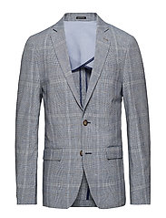 Checked blazer - BLUE
