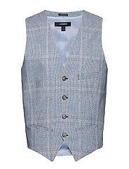 Check waistcoat - BLUE