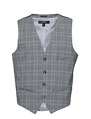 Checkstretch waistcoat - GREY