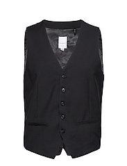 Mens waistcoat for suit - BLACK