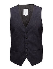 Mens waistcoat mini checked - NAVY