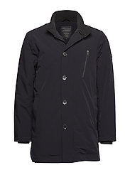 Technical carcoat in primaloft - BLACK