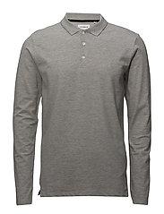 Polo shirt w. stretch - GREY MEL