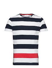Striped tee S/S - NAVY