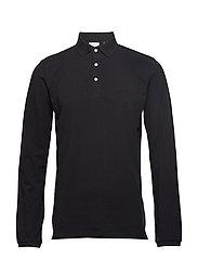 Polo shirt L/S - BLACK