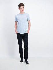 Lindbergh - Neps structure tee S/S - lyhythihaiset - lt blue - 0