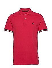 Signature polo piqué S/S - RED