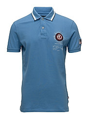 Polo S/S pigment dyed w. app. - BLUE
