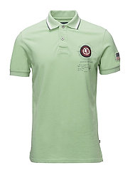 Polo S/S pigment dyed w. app. - LT GREEN