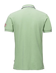 Polo S/S pigment dyed w. app.