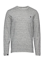 Two faced tee L/S - GREY MEL