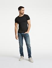 Lindbergh - Basic bamboo tee S/S 2 pack - t-shirts basiques - black - 0