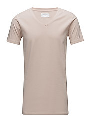 Mens stretch v-neck tee s/s - DUSTY ROSE
