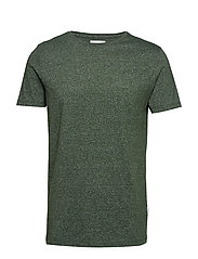 Mouliné o-neck tee S/S - BOTTLE GREEN MIX