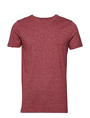 Mouliné o-neck tee S/S - DEEP RED MIX