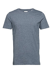 Mouliné o-neck tee S/S - FADED BLUE MIX