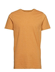 Mouliné o-neck tee S/S - NEW MUSTARD MIX