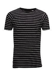 Striped tee S/S - BLACK