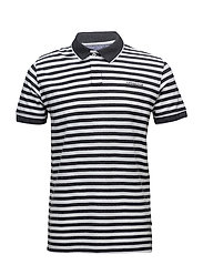 Striped polo pique´ shirt S/S - CHARCOAL MEL