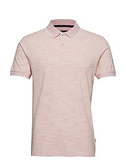 Space dyed polo S/S - LT RED