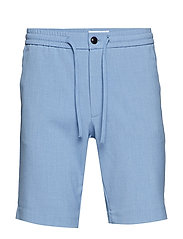 Relaxed suit shorts - LT BLUE MIX