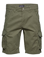 Garment dyed cargo shorts - ARMY