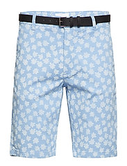 AOP chino shorts - MID BLUE