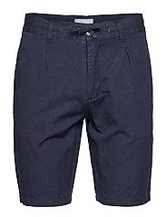 Linen shorts - DK BLUE