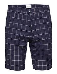 Checked shorts - DK BLUE