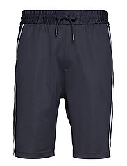 Track shorts w. piping - DK BLUE