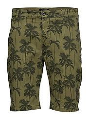 Printed chino shorts - ARMY