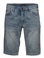 Denim shorts bleach blue wash - BLEACH BLUE