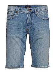 Denim shorts bleached - BLEACHED BLUE