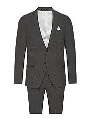 Seersucker checked suit - GREY CHECK