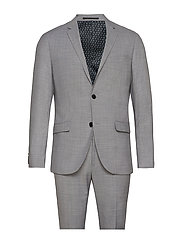 Checked suit - LT GREY CHECK