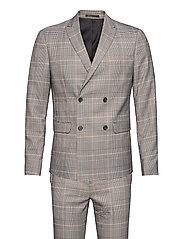 Checked suit - BROWN CHECK