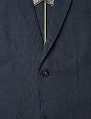 Lindbergh - Cotton linen suit - yksiriviset puvut - dk blue mix - 2