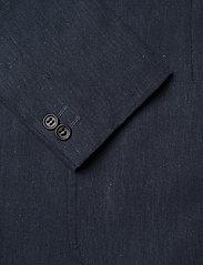 Lindbergh - Cotton linen suit - yksiriviset puvut - dk blue mix - 3
