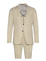 Cotton linen suit - SAND MIX