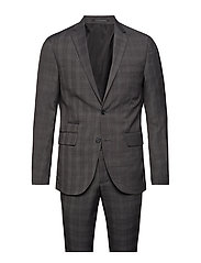 Checked mens suit - GREY CHECK