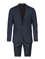 Checked mens suit - BLUE CHECK