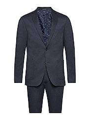 Knitted suit - blazer - NAVY MIX
