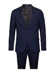 Checked suit-blazer - NAVY CHECK