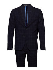 Checked suit - NAVY CHECK