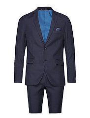 Suit houndstooth weave - DK BLUE
