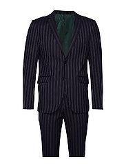 Striped suit - DK BLUE