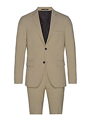 Plain mens suit - BEIGE
