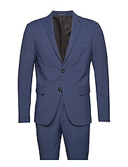 Plain mens suit - BLUE MEL
