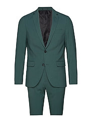 Plain mens suit - DEEP GREEN