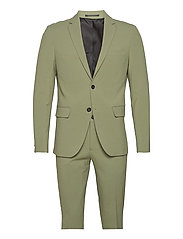 Plain mens suit - DUSTY ARMY